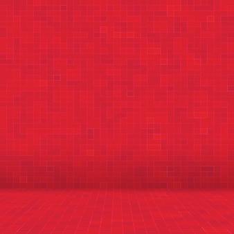 Rote keramikglas bunte fliesen mosaikzusammensetzung