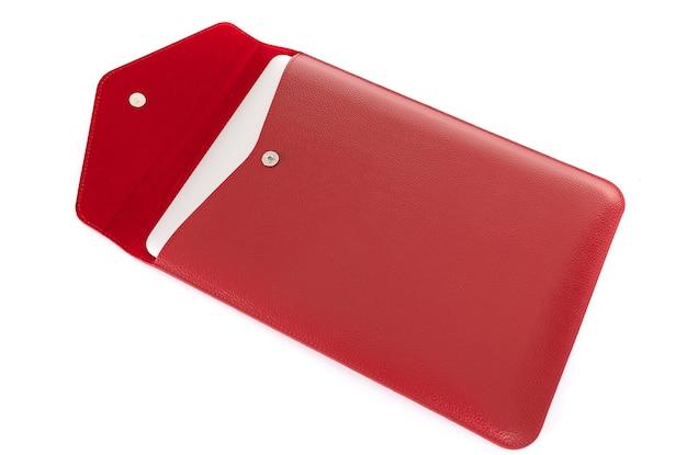 Rote kreditkartenhülle mit rfid-sicherheit