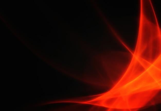 Rote kreisförmige abstrakte bewegung auf schwarzem hintergrund, kreis in rotation. illustration
