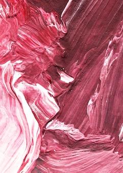 Rote ölfarbe streicht strukturierten hintergrund