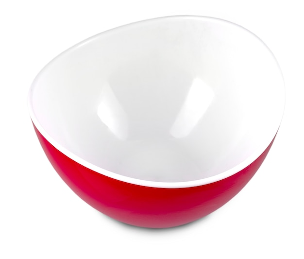 Rote platte auf weiß