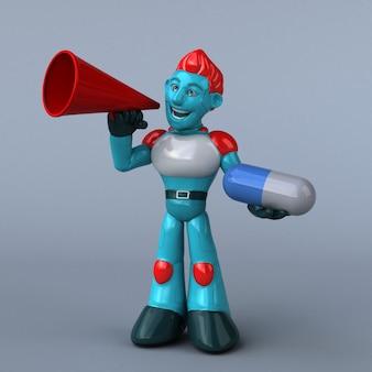 Rote roboterillustration