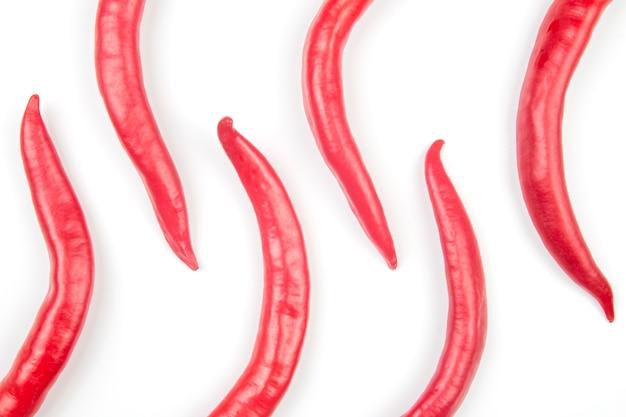 Rote scharfe chilischoten. vitamin gemüselebensmittel