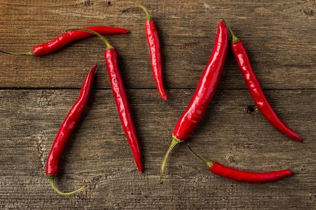 Rote scharfe chilischoten