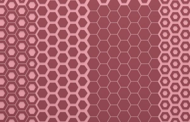 Rote sechseckgrafikwand