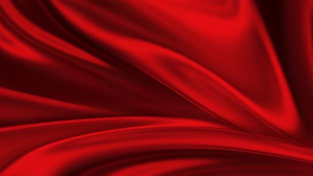 Rote seidenhintergrundwellen aus rotem seidenvollbild abstrakter eleganter hintergrund für ihr projekt