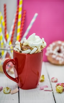 Rote tasse kakao Kostenlose Fotos