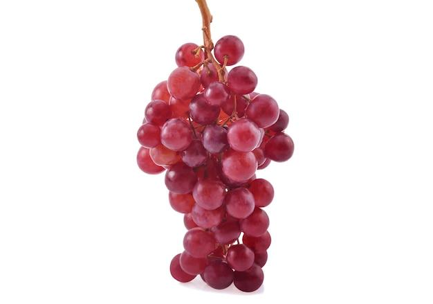 Rote trauben isoliert auf weiß