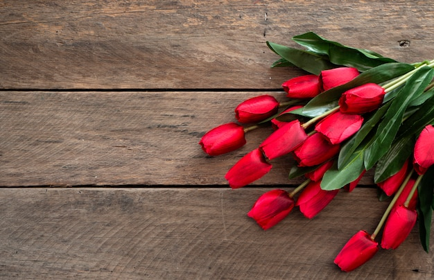Rote tulpen ostertag oder frühling