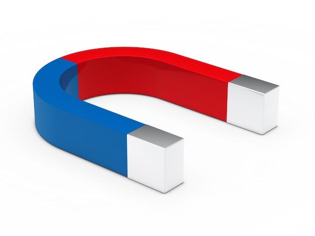 Rote und blaue magnet