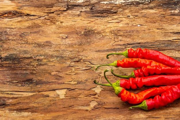 Rote und orange chilischote