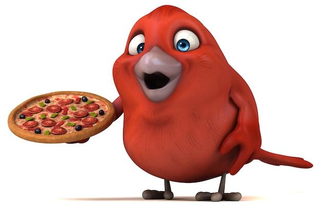 Rote vogelillustration
