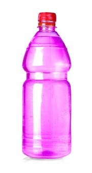Rote wasserflasche isoliert auf weiss mit beschneidungspfad