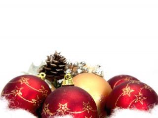 Rote weihnachtskugeln, dekor