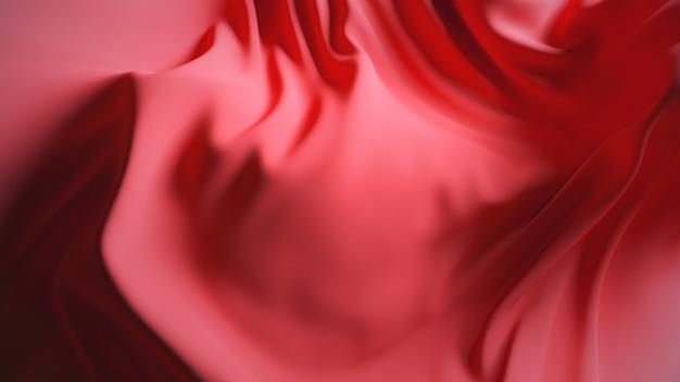Rote wellengewebeoberfläche. abstrakter weicher hintergrund.