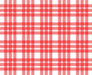 Roten und weißen tischdecke muster plätze
