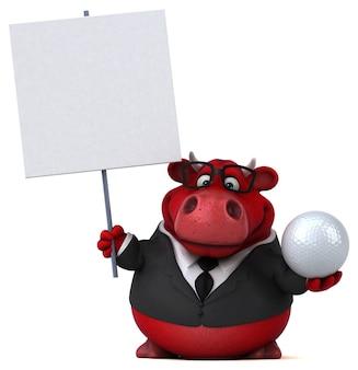 Roter bulle - 3d-illustration