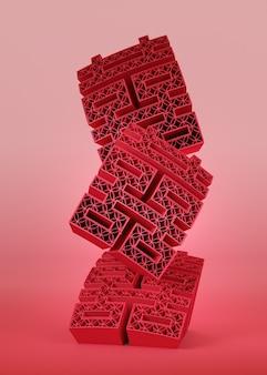 Roter chinesischer buchstabe