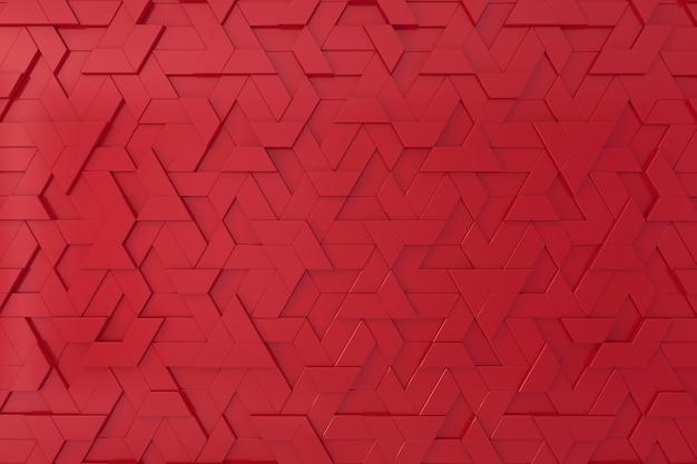 Roter dreidimensionaler hintergrund