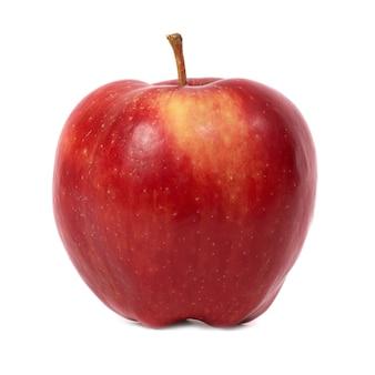 Roter frischer apfel isoliert auf weißem hintergrund