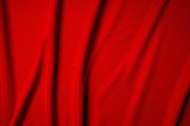 Roter gefalteter seidenhintergrund der seide