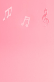 Roter hintergrund mit musiknoten
