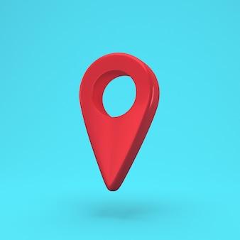 Roter kartenstiftsymbol isolierter hintergrund. navigation, zeiger, ort
