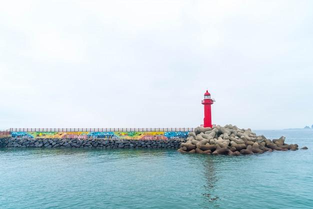 Roter leuchtturm in jeju island
