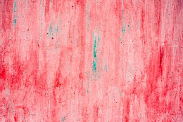 Roter metallhintergrund in rot mit kratzern gemalt