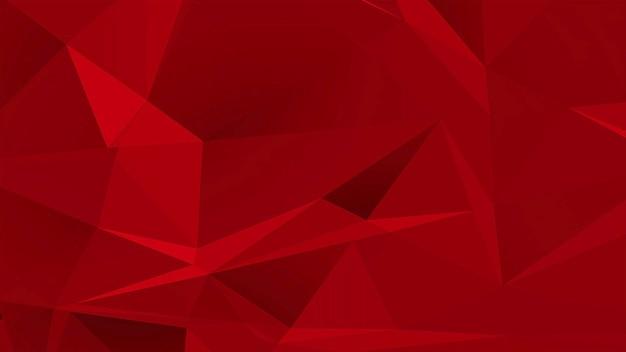 Roter niedriger polyabstrakter hintergrund, geometrische form der dreiecke. eleganter und luxuriöser dynamischer stil für unternehmen, 3d-illustration