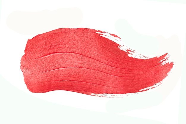 Roter pinselstrich. abstrakte goldglitzernde strukturierte kunstillustration.