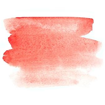 Roter pinselstrich. abstrakter aquarellhintergrund. lebendiges element für ihr design