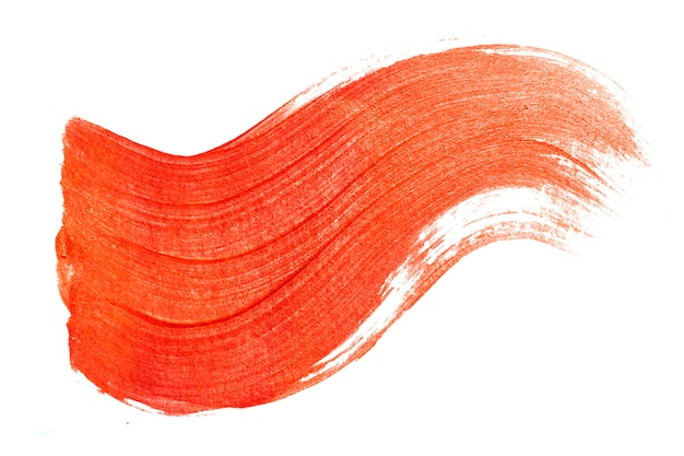 Roter pinselstrich. abstraktes gold glitzert strukturiert