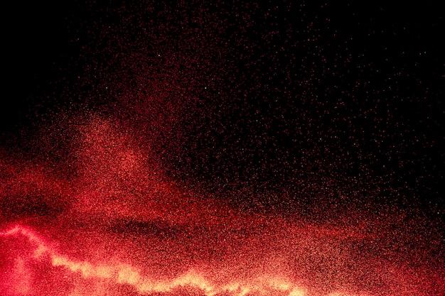 Roter pulver-explosionshintergrund