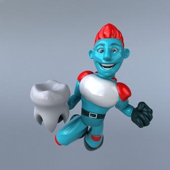 Roter roboter - 3d-charakter