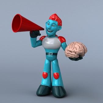 Roter roboter - 3d-illustration