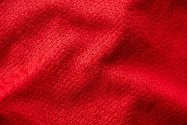Roter sportstoff mit air-mesh-textur