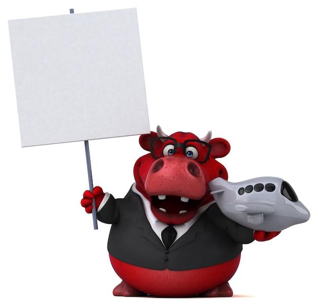 Roter stier - 3d-illustration