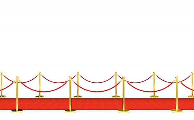 Roter teppich und barriere