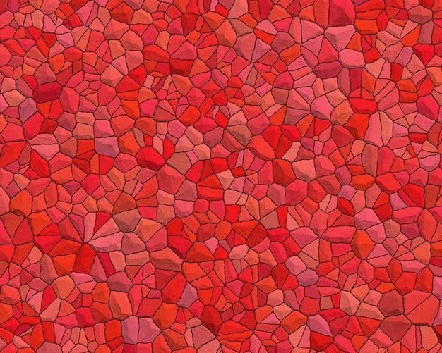 Roter trencadis hintergrund