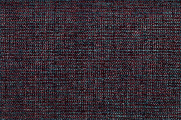 Roter und blauer textilhintergrund mit kariertem patterno.