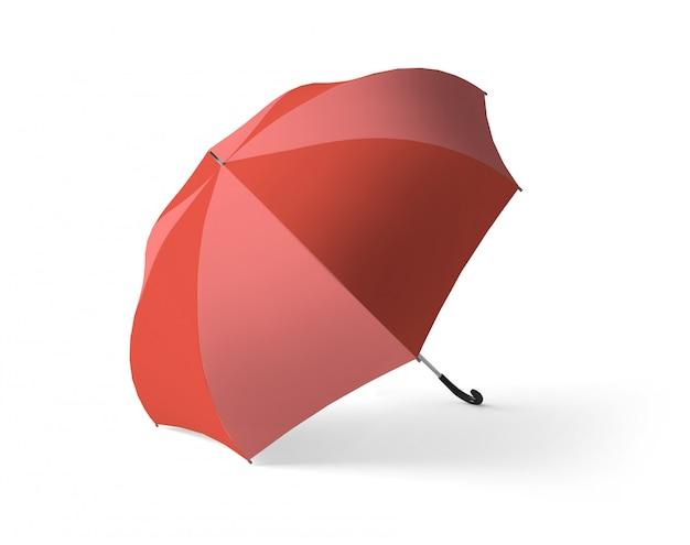 Roter und rosa regenschirm