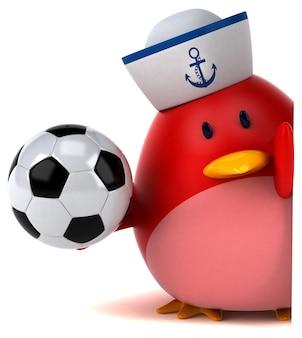 Roter vogel - 3d-charakter
