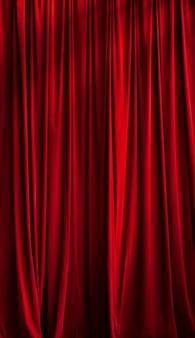 Roter vorhang ideal für hintergründe und texturen