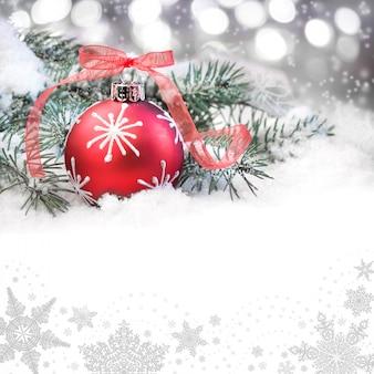 Roter weihnachtsflitter, textraum