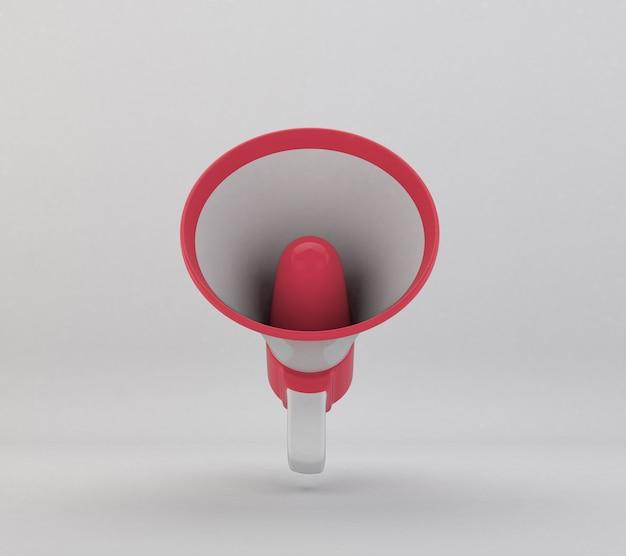 Rotes 3d-megaphon für komposition