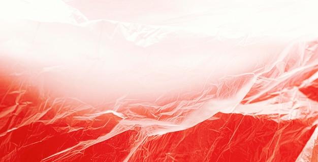 Rotes abstraktes plastiktütenkonzept