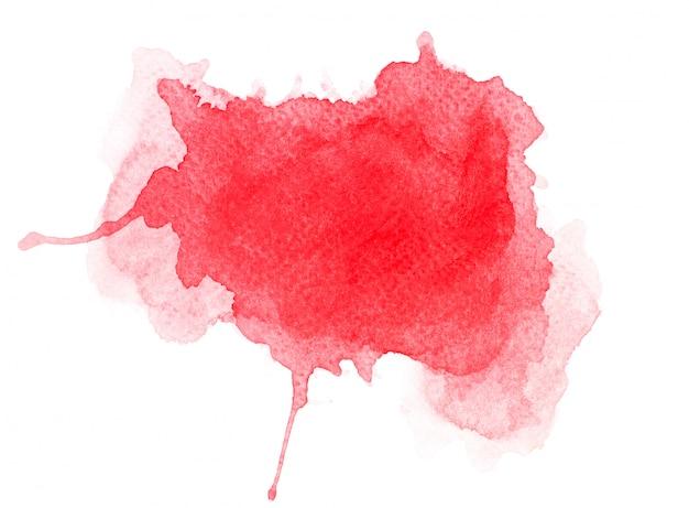 Rotes aquarell auf papier.