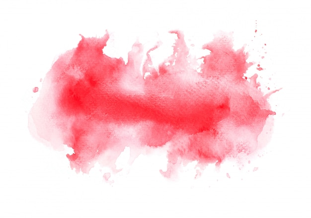Rotes aquarell