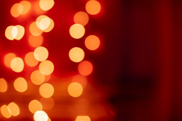 Rotes bokeh unscharfer lichthintergrund
